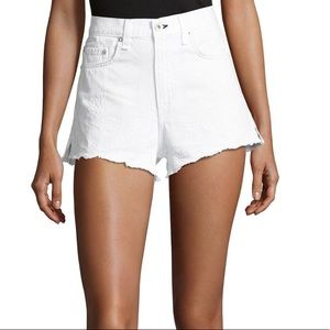 Rag & Bone Jean Shorts, White Eyelet, 26